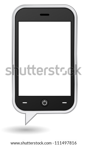 mobile phone bubble concept - stock vector