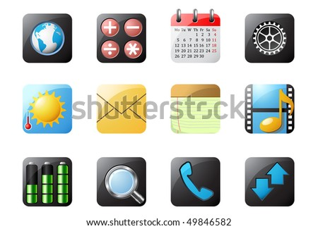 Mobile phone buttons 1 - stock vector