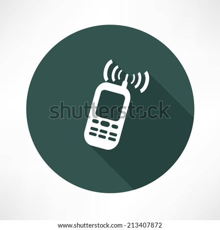 mobile phone calling icon - stock vector