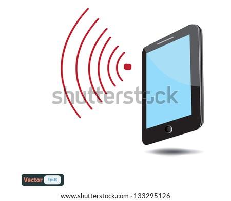 Mobile phone connection,vector design - stock vector