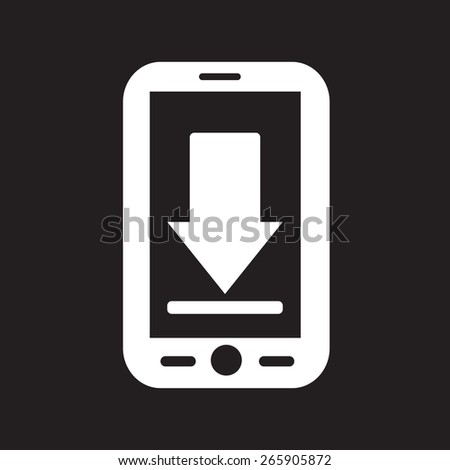 Mobile Phone Download Icon - stock vector