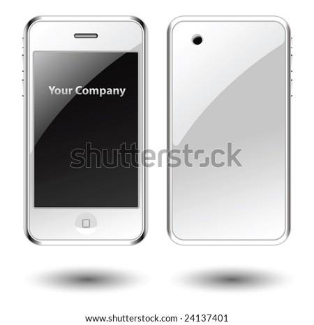 Mobile phone editable vector illustration - stock vector