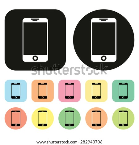 Mobile phone icon. Phone icon. Vector - stock vector