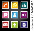 Mobile Phone Icons Colorful Style - stock photo