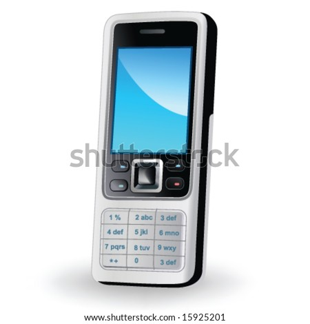 Mobile phone in vector