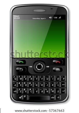 Mobile phone - original design - stock vector
