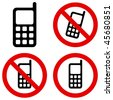 Mobile Phone Prohibition - stock photo