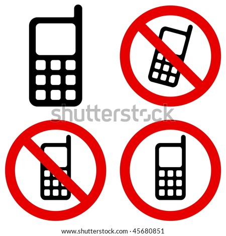 Mobile Phone Prohibition - stock vector