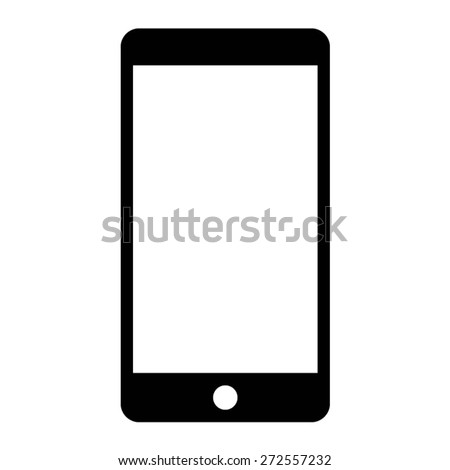 mobile phone (smartphone) flat icon for websites - stock vector