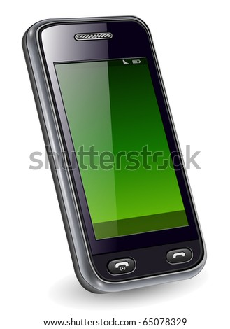Mobile phone, smartphone original design, vector illustration. - stock vector