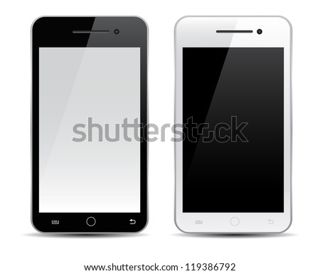Mobile phone vector - stock vector