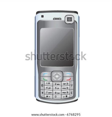 mobile phone vector 1 - stock vector