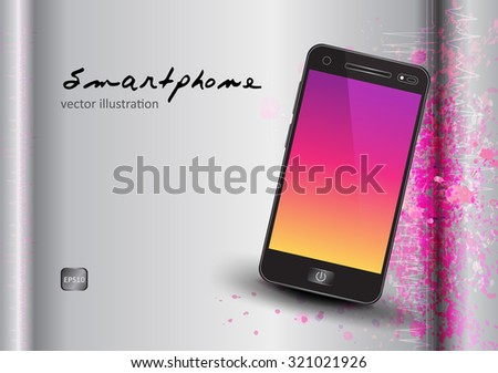 mobile phone vector, brochure template,poster,magazine template,printing, book layout ,advertise, mobile phone smart-phones collection iphone style on black background illustration - stock vector
