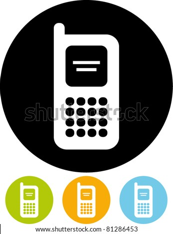 Mobile phone – Vector icon - stock vector