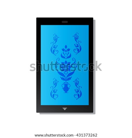 Mobile phone vector with buttons the tablet