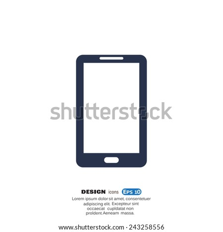 Mobile phone web icon. vector design - stock vector