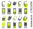 Mobile phones. Elements for design. Vector illustration. - stock photo