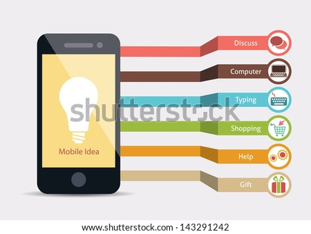 Mobile Service Idea Infographic - stock vector