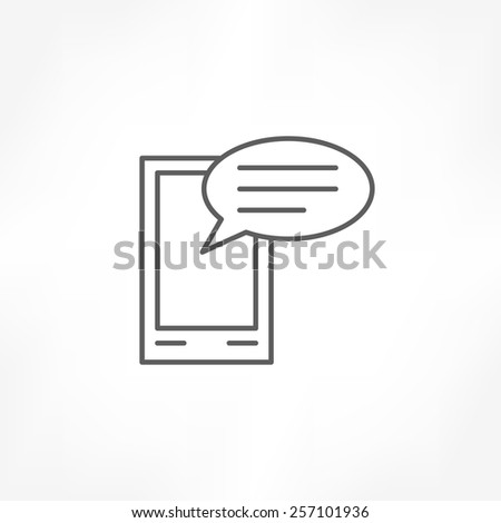 mobile talk icon - stock vector