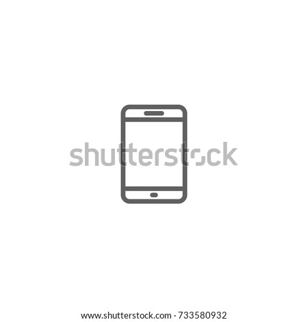 Mobile Telephone Thin Line Vector Icon Stock Vector 733580932 ...