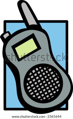 mobile walkie-talkie two-way radio - stock vector