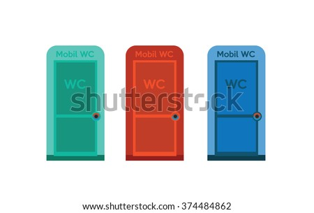 Mobile wc - stock vector