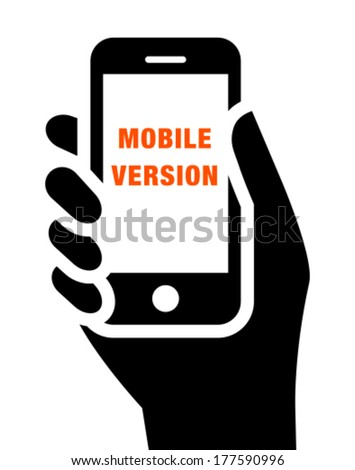 Mobile website icon - stock vector