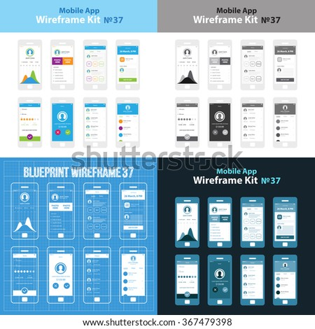 Mobile wireframe app ui kit 37 stock vector royalty free 367479398 mobile wireframe app ui kit 37 statistics screen list screen delivery screen ccuart Image collections