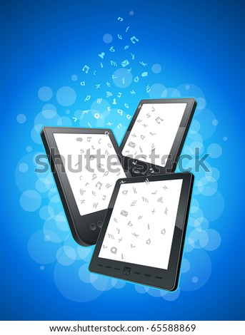 Mobility communication items. Vector illustration. - stock vector