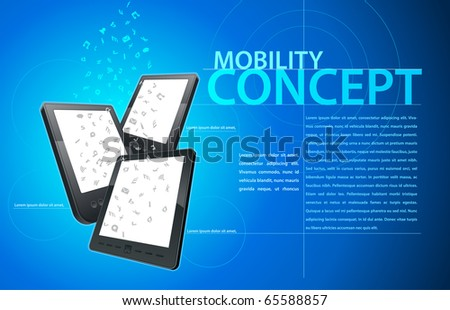 Mobility communication template. Elements are layered separately in file. Vector illustration. - stock vector