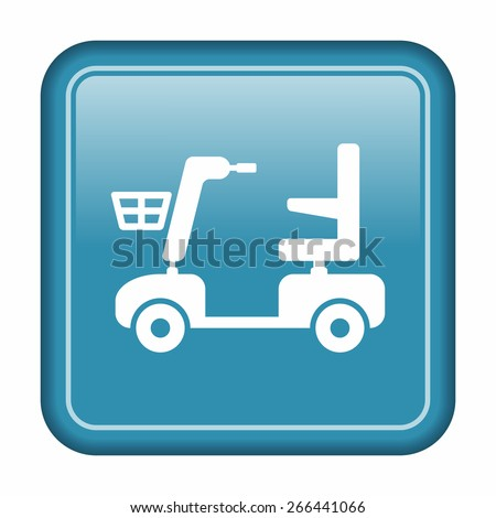 Mobility scooter icon - stock vector