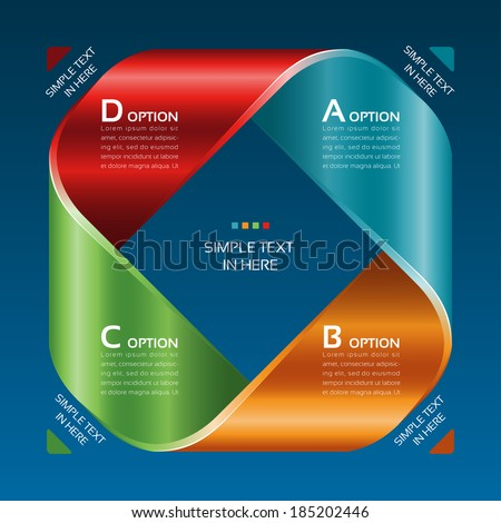 Mobius strip of paper. Vector option info graphic. EPS 10. RGB. All effects are created with simple gradients and transparency, no mesh.  File is layered with global colors. - stock vector