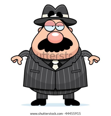 Mobster Boss - stock vector