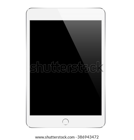 mock up white tablet similar to ipades isolated on white vector design - stock vector