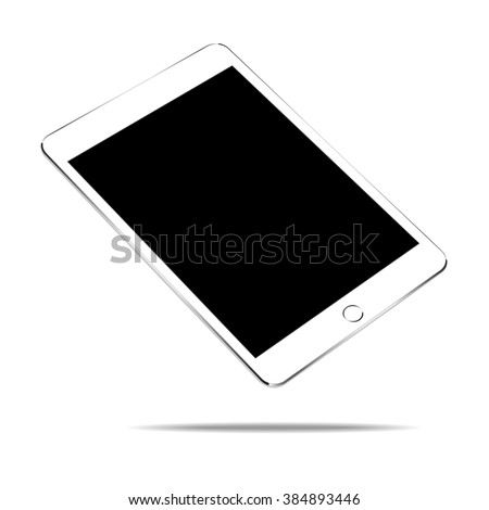 mock up white tablet similar to ipades style isolated on white vector design - stock vector