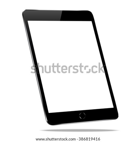 mockup black tablet similar to ipades isolated on white vector design - stock vector