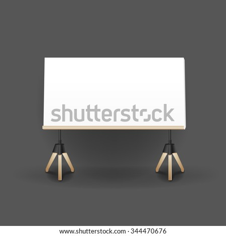 Mockup modern empty frames on wall. Layout template. Realistic vector mockup illustration.
