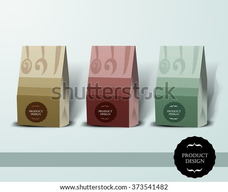 Mockup template for branding and product designs. Isolated realistic box with unique design. Easy to use for advertising branding and marketing. - stock vector