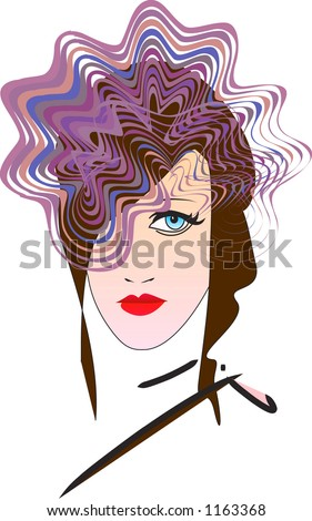 Model - Vector Illustration - Colors Fully editable