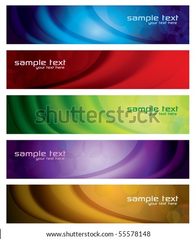 Modern Abstract Banner Set - stock vector