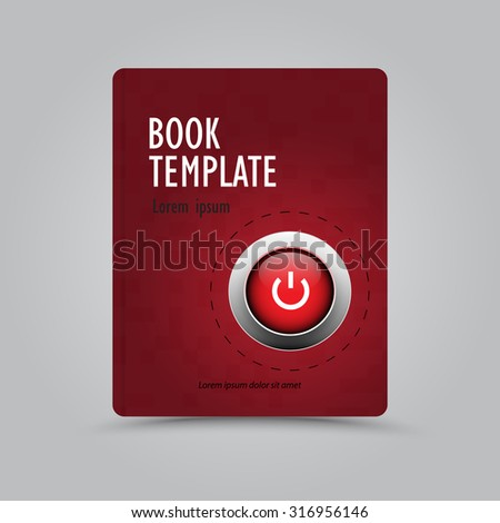 Modern abstract book template