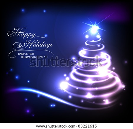Modern abstract christmas tree, eps 10 - stock vector