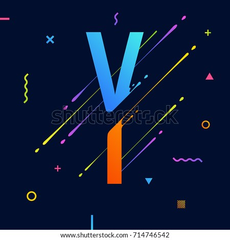 Modern abstract colorful alphabet minimal design stock vector modern abstract colorful alphabet with minimal design letter y abstract background with cool bright altavistaventures Image collections
