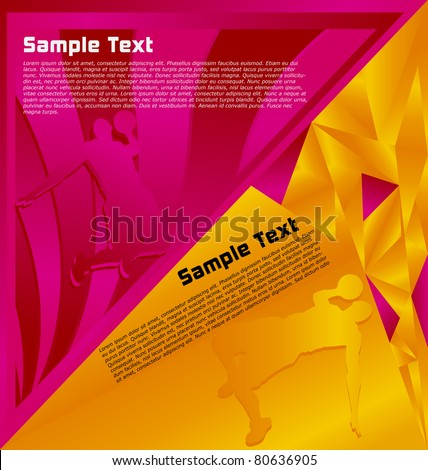 Modern abstract colorful designed sport vector background. Basketball Player. - stock vector