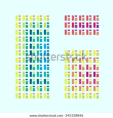 Modern abstract colorful window illustration. - stock vector