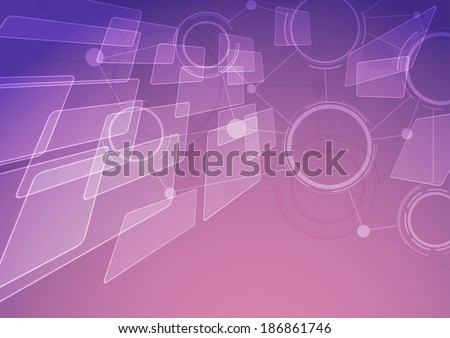 Modern abstract connectivity background. Vector illustration - stock vector