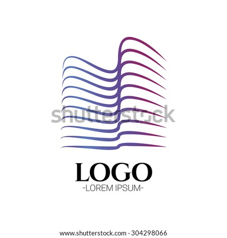 Modern Abstract Construction Building vector logo design template .Creative business symbol. Building abstract icon. Corporate sign. - stock vector