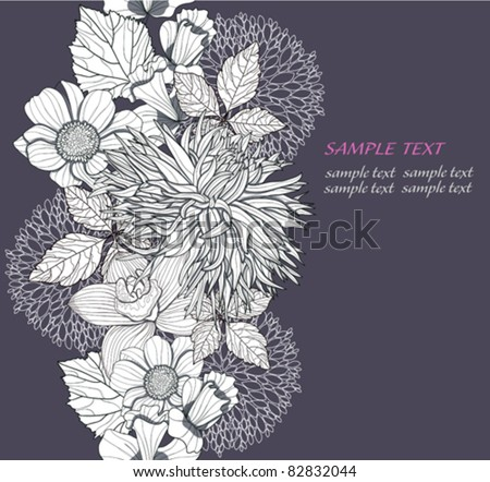 Modern abstract flower background. Background with seamless floral pattern. - stock vector