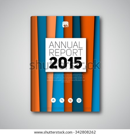 Modern abstract lineart book cover, brochure, flyer, report, design template with color stripes - stock vector