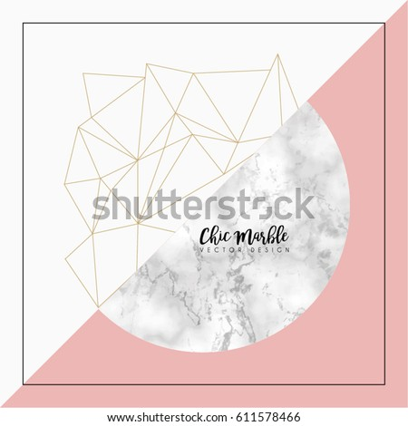 Modern Abstract Marble Vector Design